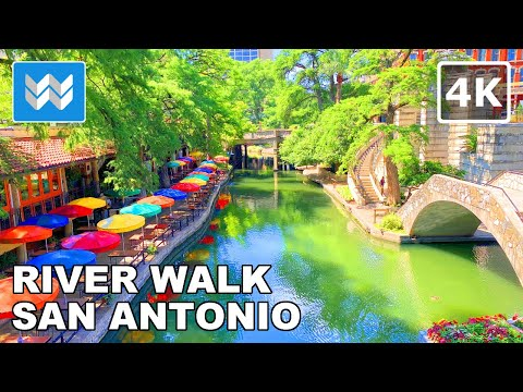 River Walk In San Antonio, Texas USA 2020 Travel Guide - Virtual Walking Tour 🎧  Binaural Sound【4K】