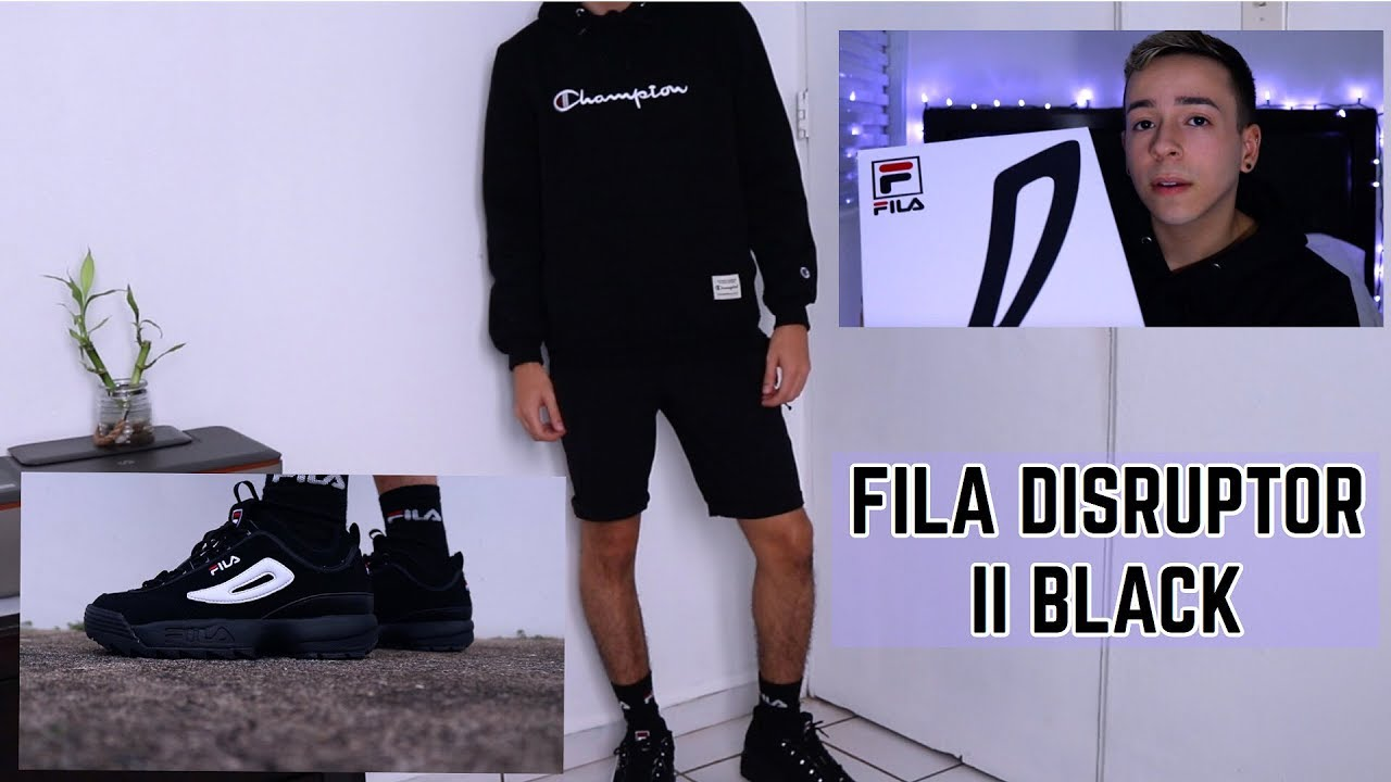 FILA DISRUPTOR II BLACK REVIEW: UNBOXING, ON FEET, & STYLING