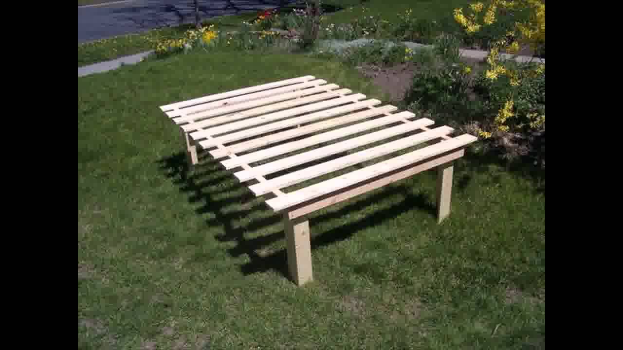 Cheap, easy, low waste platform bed plans - YouTube