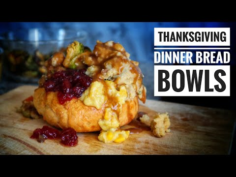 Vegan Thanksgiving Dinner Recipes | Thanksgiving Dinner Bread Bowls