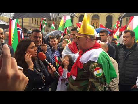 New Abo Chicho ISRAELI interview Rudaw TV Historical DEMONSTRATION for an independent KURDISTAN