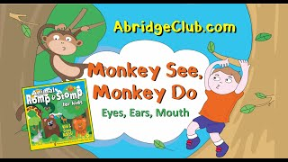 """Monkey See Monkey Do"" Action Song  | Animal Romp & Stomp Music CD | AbridgeClub.com"