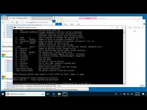 Windows 10 iPerf3 (Network Speed Test Software) Install and