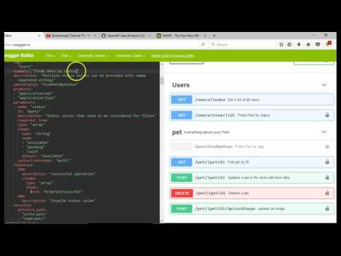 Swagger API documentation tutorial for beginners - 4 - Open API specification summary