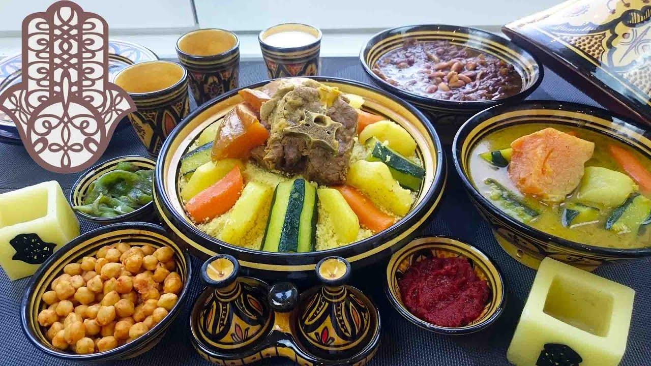 Couscous Marocain A L Agneau Et Legumes Youtube