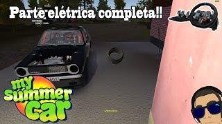 My Summer Car#53 - Fazendo toda a parte elétrica!!! Quebrou a suspensão!!{G29}