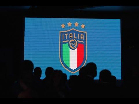 Backstage presentazione nuovo logo FIGC