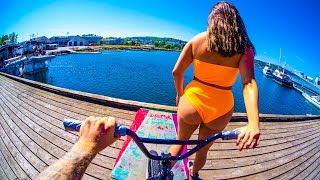 BMX WATER JUMP TRICKS!