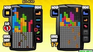 無限2階T轉 不規則回到規則排列 Infinite t-spin double  Tetris Battle示範用 thumbnail