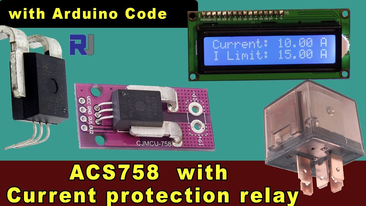 Allegro ACS758 Current sensor with LCD1602I2C and Current limiting