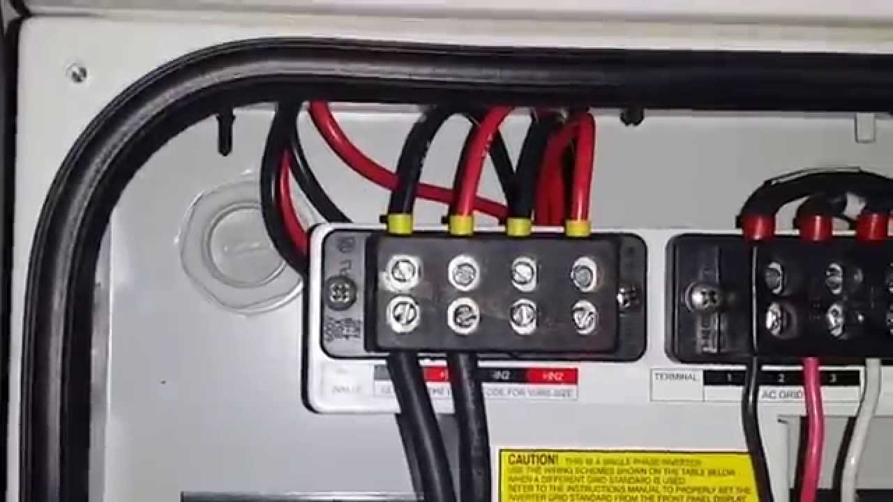 Solar Panel Wiring Diagram 1978 Evinrude 70 Hp Diy Home Installation - Part 5, Inverter Dc/ac Wiring, Separate Mppt Arrays Youtube