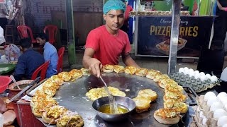 BURGER MAKING | Young Boy Selling Egg Burger | Super Fast Cooking Skills | Egg Anda Bun Kabab Making