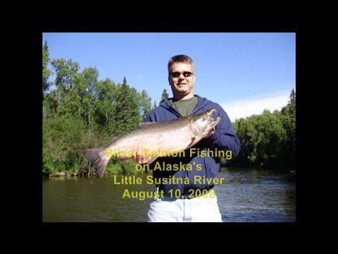 Tone Alaska Silver Salmon Fishing On Little Susitna Near Talkeetna & Wasilla