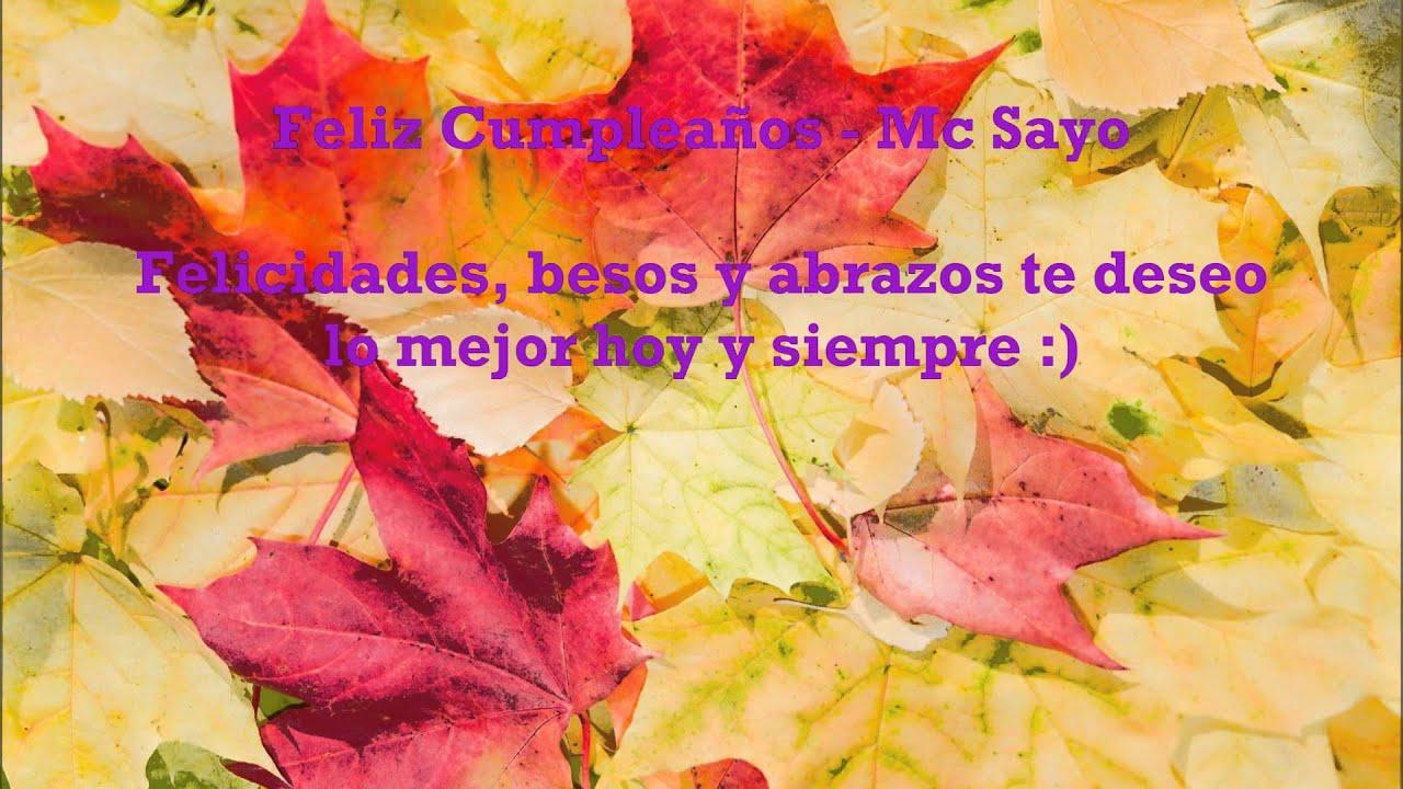 ♥ ♥ ♪Canción Para Dedicar♪ ♥ ♥] - ♥ FELIZ CUMPLEAÑOS ♥ - Mc ...