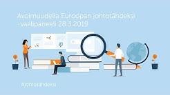 Pilvi Torsti / Avoimuudella Euroopan johtotähdeksi -vaalipaneeli 28.3.2019
