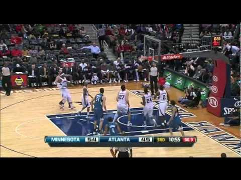 Ricky Rubio Highlights Vs. Atlanta Hawks 14/01/2012