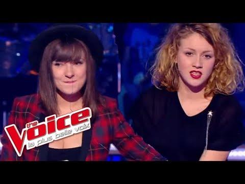 The Voice 2014│Natacha Andreani VS Cloé - Le Chemin (Kyo)│Battle