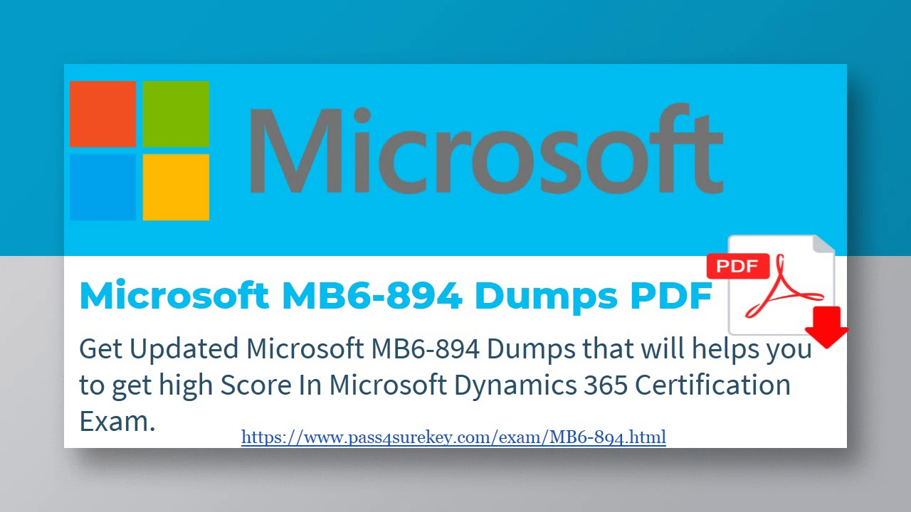Microsoft Dynamics Mb6 894 Dumps Pdf Mb6 894 Study Material Youtube
