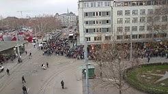 Schüler Demonstrieren in Zürich fürs Klima