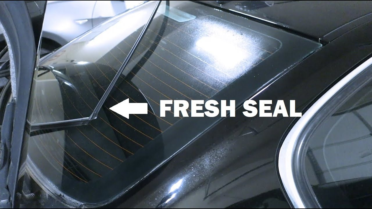 Bmw E90 Rear Window Trim Seal Replacement Youtube