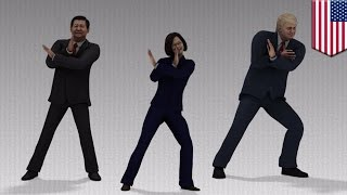 Trump hits the dance floor with Taiwan, China presidents in parody dance video - TomoNews