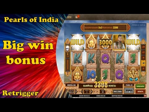 Pearls of India big win bonus in online casino.