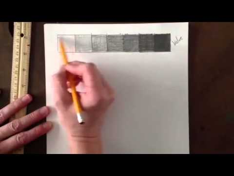 How to create a value and gradation scale using a pencil.