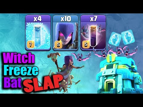 NEW WITCH FREEZE BAT SLAP 2019!  TH12 NEW STRONG WAR ATTACK STRATEGY 2019 | Clash of Clans