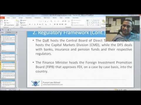 Lecture on Foreign Investment in India