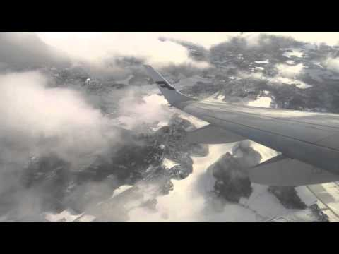 Banking over Helsinki after takeoff