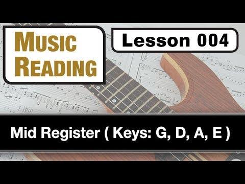 MUSIC READING 004: Mid Register (Keys: G, D, A, E)