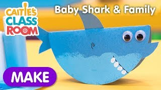 Learn How To Make A Baby Shark & Family Craft!