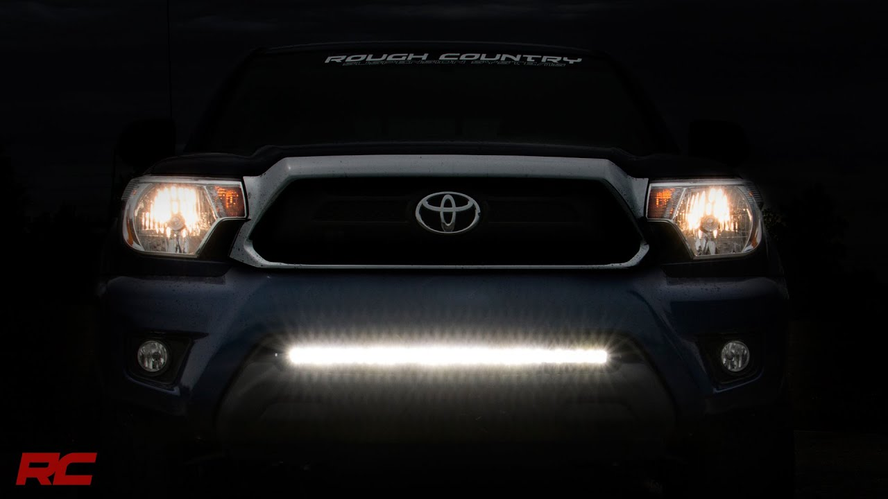 2005 2015 Toyota Tacoma 30 Inch Hidden Led Light Bar Bumper Mount By