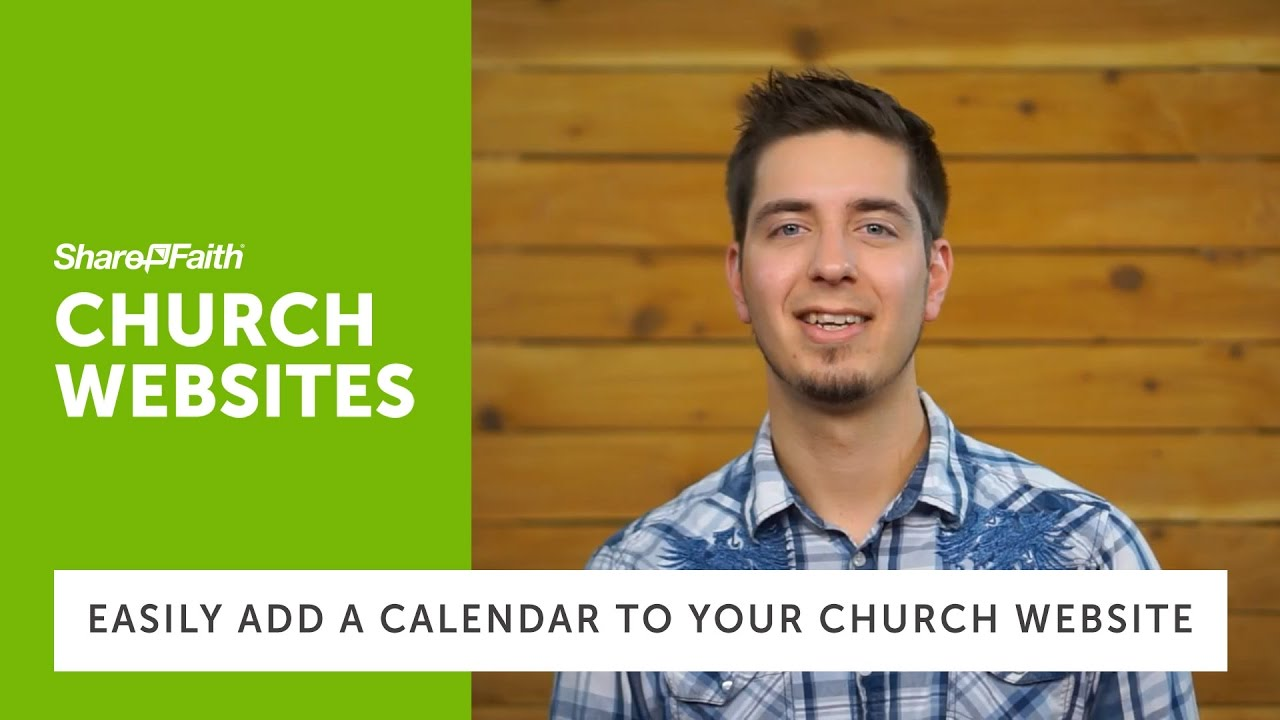 Church Websites - How to Add Your Calendar to Your Church Website