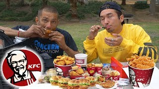 KFC MUKBANG with a HOMELESS MAN (multiple personality disorder)