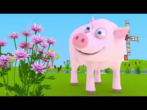 Домашние животные для детей . Песенка мультик про голоса животных - Видео онлайн