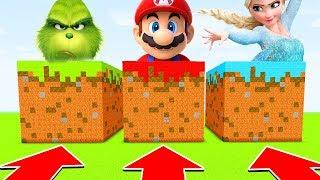 Minecraft : DO NOT CHOOSE THE WRONG GRASS BLOCK (GRINCH,MARIO,ELSA)(Ps3/Xbox360/PS4/XboxOne/PE/MCPE)