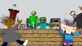 Monster School : WORK AT BALDIS CAFETERIA - Minecraft Animation