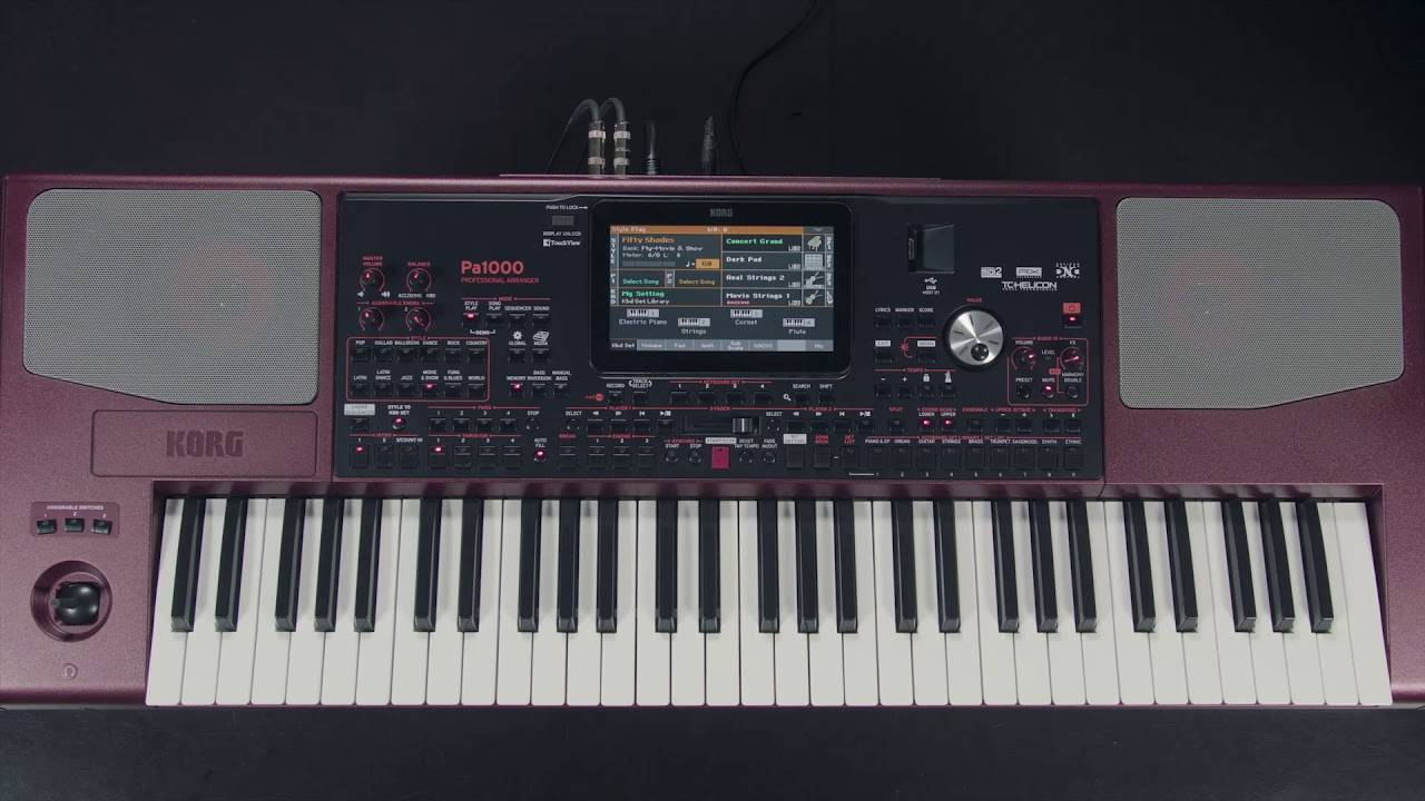 pa1000 video manual part 1 setup navigation youtube rh youtube com Korg Keyboard Demos Korg Kronos X 88