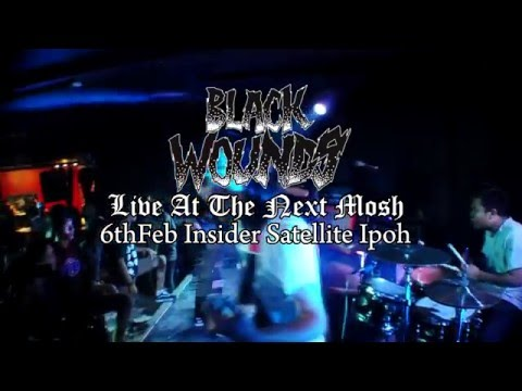 "Blackwounds live at ""The Next Mosh"" Insider Sattelite Ipoh"