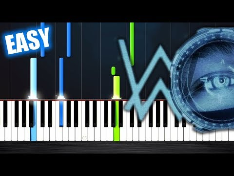 Alan Walker - Spectre - EASY Piano Tutorial by PlutaX