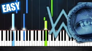 Alan Walker - The Spectre - EASY Piano Tutorial by PlutaX