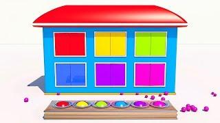 Домик с сюрпризом.Учим цвета и фигуры на английском. Развивающие и обучающие видео обзоры для детей