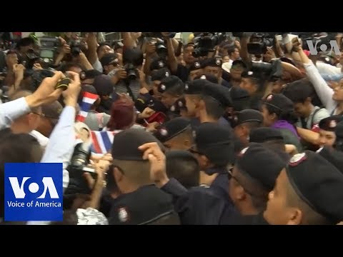 Demonstrators mark 4th anniversary of military overthrow of elected government in Thailand