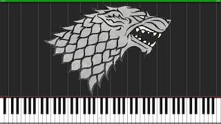 House Stark Medley - Game of Thrones [Piano Tutorial] (Synthesia) // Torby Brand