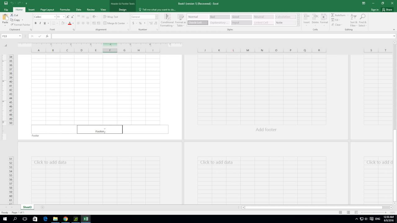 Ediblewildsus  Remarkable How To Create Header And Footer In Excel   Youtube With Foxy How To Create Header And Footer In Excel  With Cute Excel Formulas Don T Work Also Excel Function Replace In Addition Conditional Formatting In Excel  Using Formula And Making Labels From Excel Spreadsheet As Well As How To Merge Two Columns Into One In Excel Additionally Cumulative Normal Distribution Excel From Youtubecom With Ediblewildsus  Foxy How To Create Header And Footer In Excel   Youtube With Cute How To Create Header And Footer In Excel  And Remarkable Excel Formulas Don T Work Also Excel Function Replace In Addition Conditional Formatting In Excel  Using Formula From Youtubecom