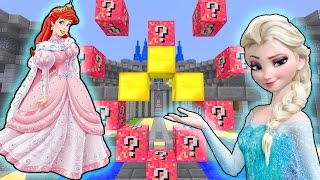Minecraft PRINCESS LUCKY BLOCK MOD Challenge