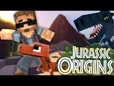 "Jurassic World Origins #1 ""A FALLEN KINGDOM"" (Dinosaur Mod Minecraft Roleplay)"