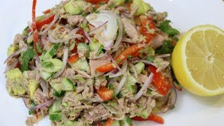 САЛАТ С ТУНЦОМ И АВОКАДО #3. SALAD WITH TUNA AND AVOKADO # 3.