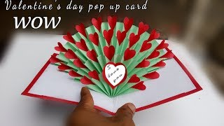 hand made gift for valentine's day / valentine's day pop up card tutorial 3d heart /paper crafts all
